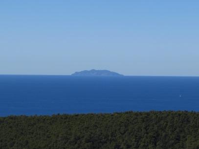 Dalle colline si vede la Gorgona